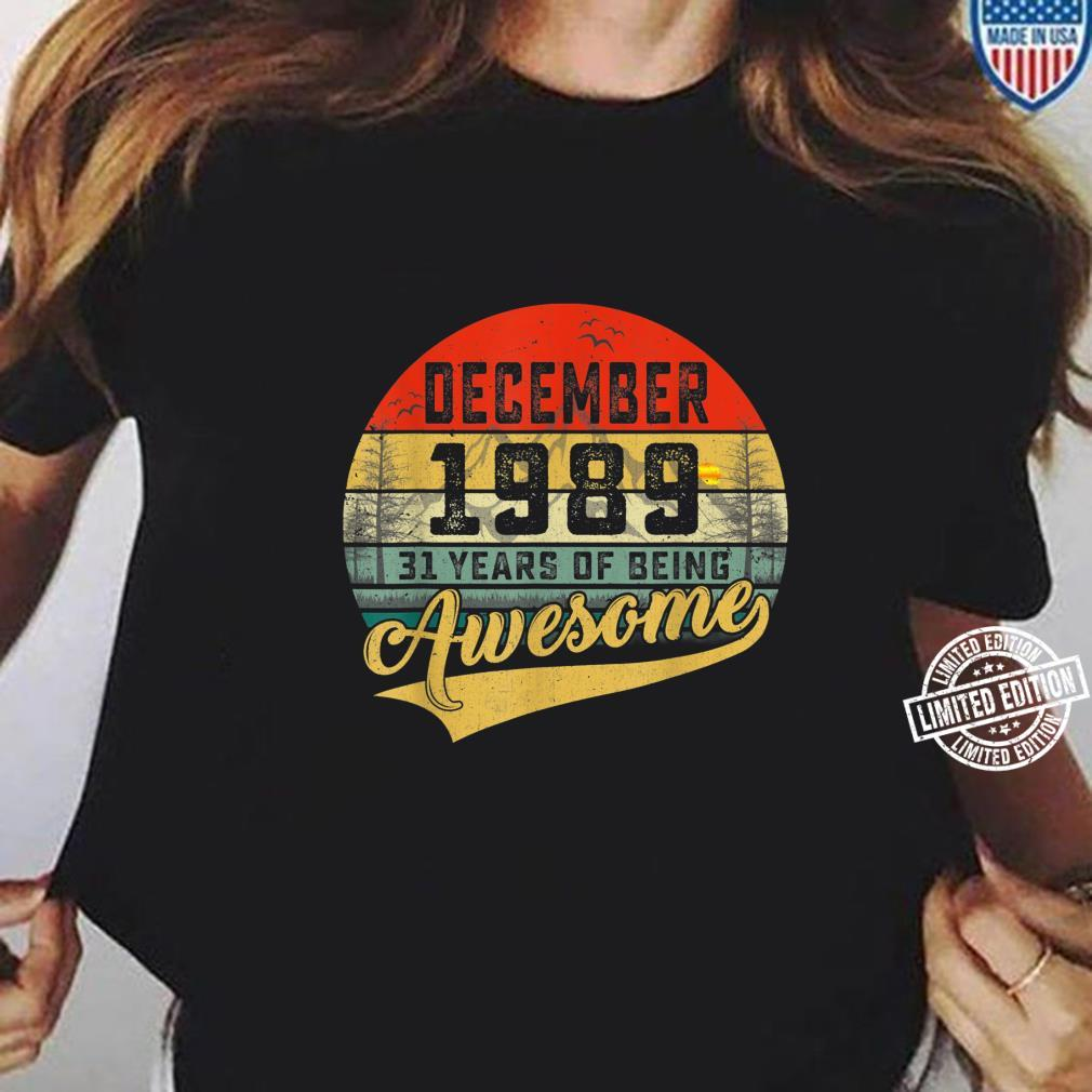 31st Birthday T-Shirt 1989 Mens For An 31Year Old Vintage Year Premium Quality